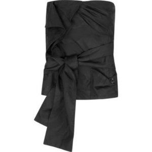 See by Chloe Black Strapless Top with Ruffle & Bow